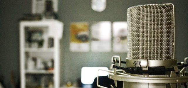 micrófono en home studio